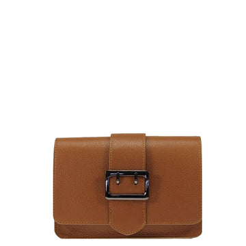 Camel Buckle Front Leather Bag - Brix and Bailey® - Contemporary Bag, Watch and Accessory Brand