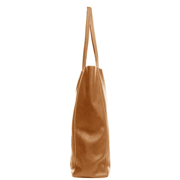 Camel Everyday Soft Pebbled Leather Tote Bag - Brix and Bailey® - Contemporary Bag and Accessory Brand