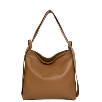 Camel Pebbled Leather Tote Backpack - Brix and Bailey® - Contemporary Bag, Watch and Accessory Brand
