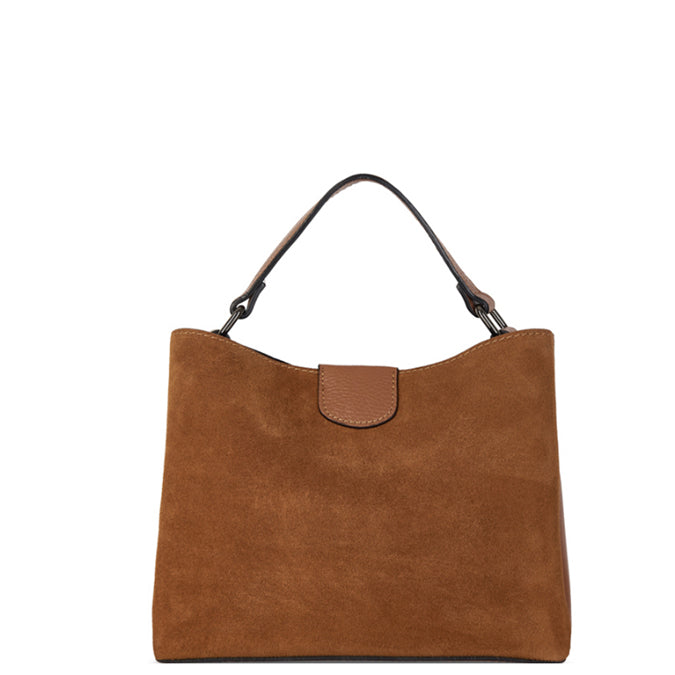 Camel Suede Leather Grab Bag - Brix and Bailey® - Contemporary Bag, Watch and Accessory Brand