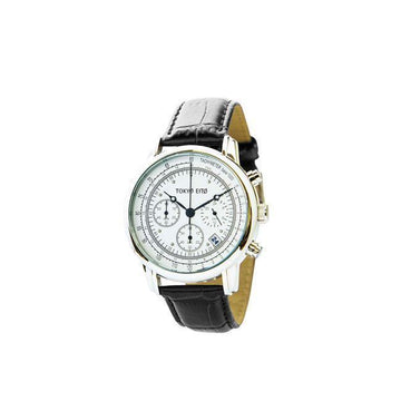 Triple Chronograph Classic Stainless Steel + Leather Watch