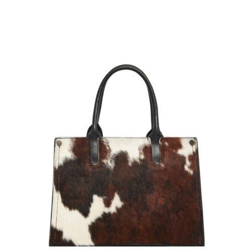 Cow Print Hair On Leather Handbag - Brix and Bailey® - Contemporary Bag, Watch and Accessory Brand