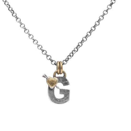 Letter G Initial Pendant Necklace