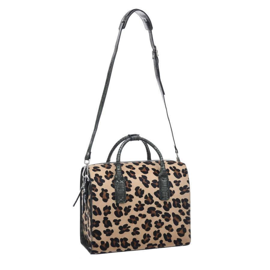Doctors Style Leopard Print Leather Top Handle Bag www.brixbailey.com