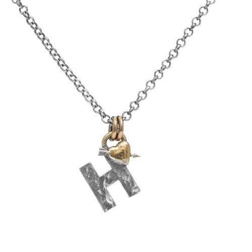 Letter H Initial Pendant Necklace - Sostter