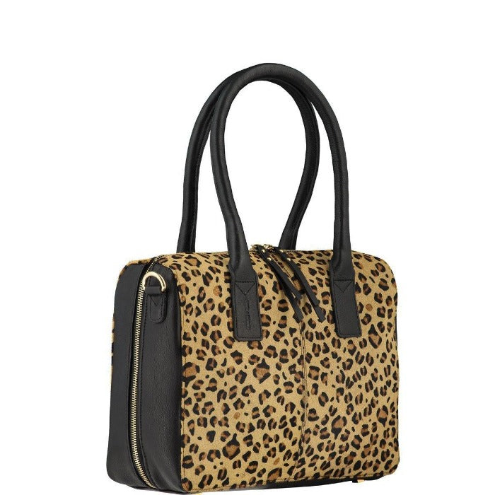 Leather Cross-Body Leopard Hair On Hide Grab Bag Brix + Bailey