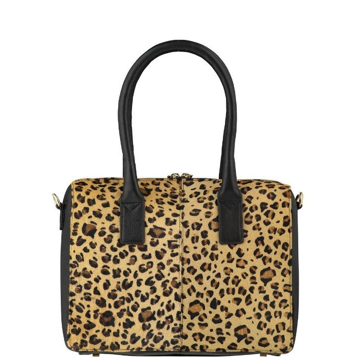 Leopard Hair On Hide Grab Handbag Brix and Bailey