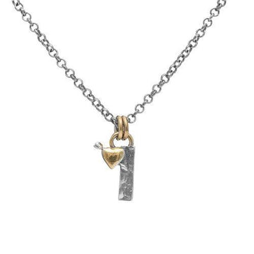 Letter I Initial Pendant Necklace