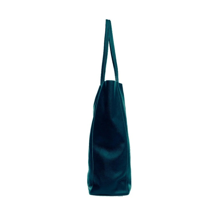 Jade Pebbled Leather Tote Shopper Bag Sostter