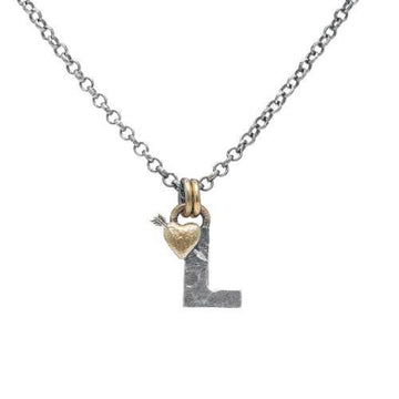 Letter L Initial Pendant Necklace