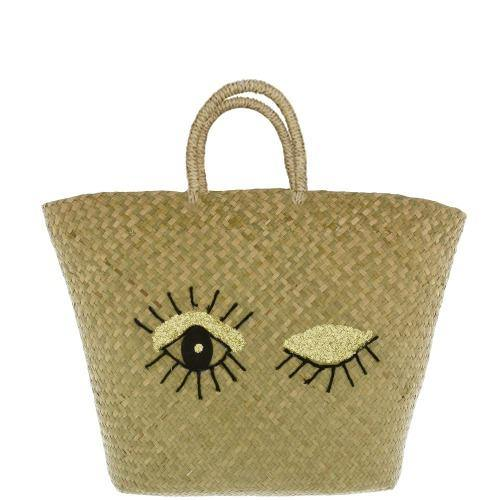 Large Winking Basket Tote Bag - Sostter
