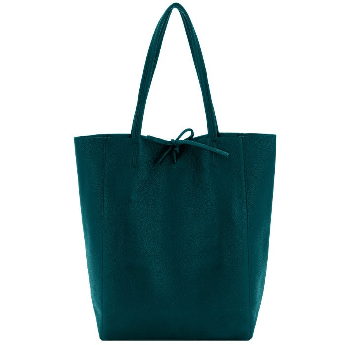 Jade Pebbled Leather Tote Shopper Bag - Brix and Bailey® - Contemporary Bag, Watch and Accessory Brand