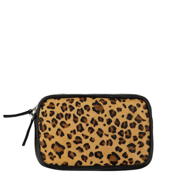 Leopard Print Hair On Hide Leather Cross-Body Bag - Brix and Bailey® - Contemporary Bag, Watch and Accessory Brand