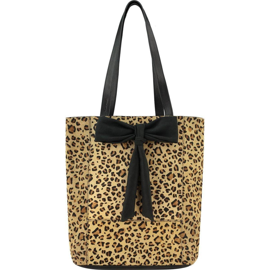 Bow Hair On Hide Leather Tote Leopard Brix + Bailey