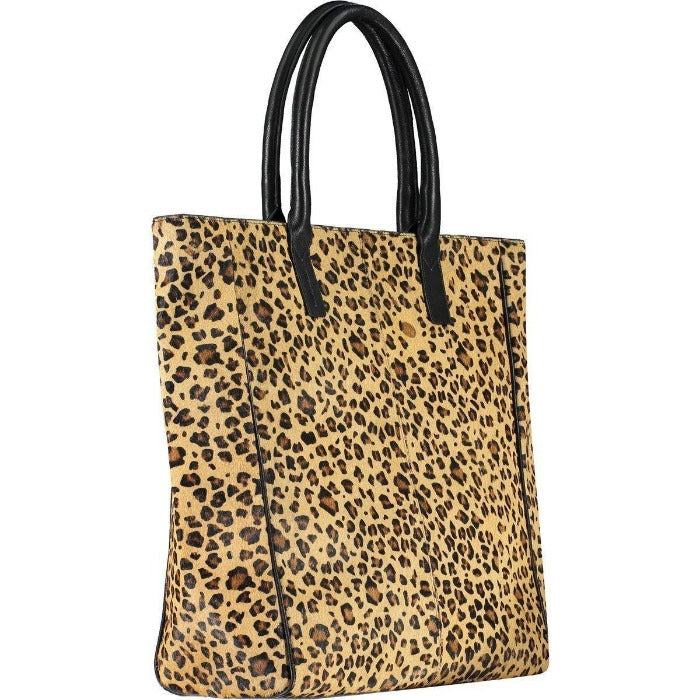Leopard Print Pony Skin Hide Leather Day Tote Brix + Bailey