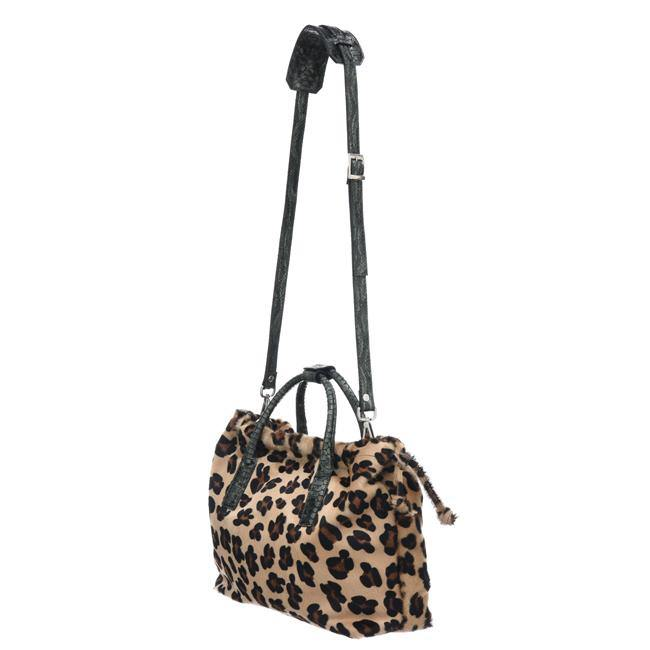 Leopard Print Hair On Hide Leather Hobo Handbag - Brix and Bailey® - Contemporary Bag, Watch and Accessory Brand