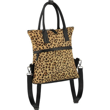 Leopard Print Hair On Hide Leather Backpack - Brix and Bailey® - Contemporary Bag, Watch and Accessory Brand