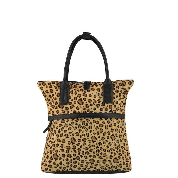 Leopard Print Hair On Hide Backpack Brix + Bailey