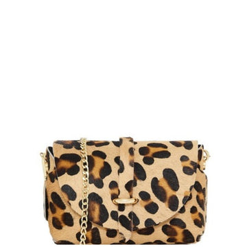 Animal Print Hair On Hide Mini Crossbody Bag - Brix and Bailey® - Contemporary Bag, Watch and Accessory Brand