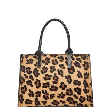 Leopard Print Hair On Leather Handbag - Brix and Bailey® - Contemporary Bag, Watch and Accessory Brand