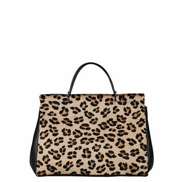 Leopard Print Hair On Hide Leather Shoulder Bag - Brix and Bailey® - Contemporary Bag and Accessory Brand