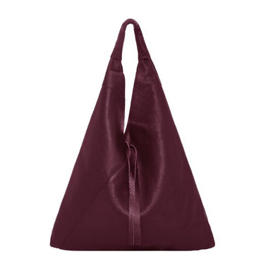 Maroon Pebbled Boho Leather Bag - Brix and Bailey® - Contemporary Bag, Watch and Accessory Brand