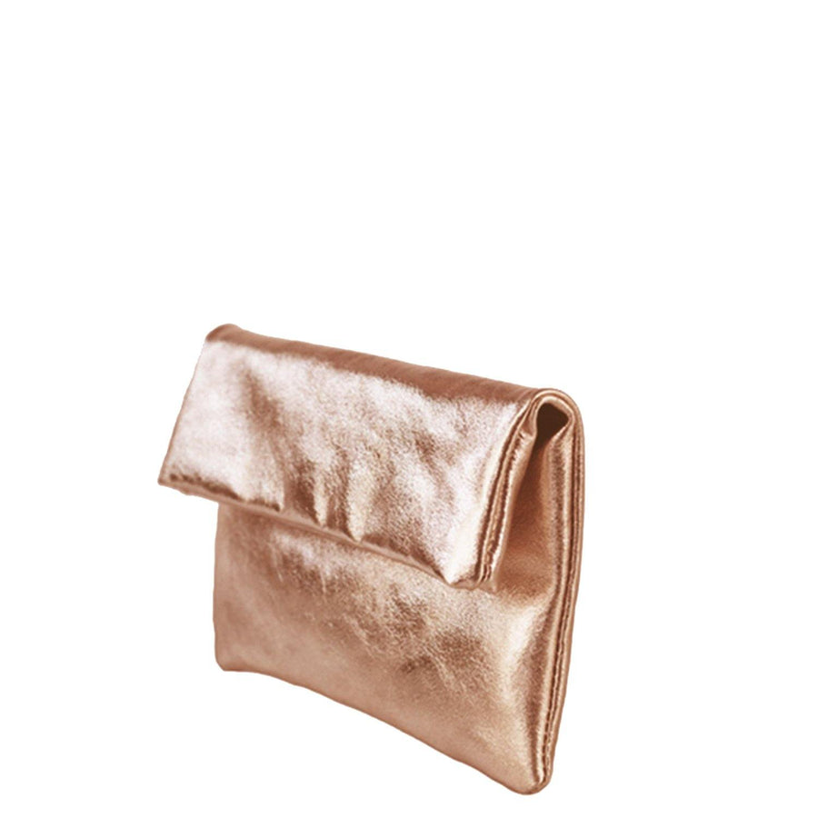 Metallic-Foldover-Clutch-Copper Gold Brix + Bailey