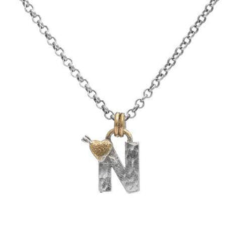 Letter N Initial Pendant Necklace