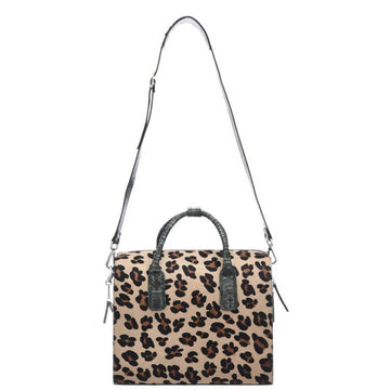 Brix + Bailey Doctors Style Leopard Print Leather Top Handle Bag