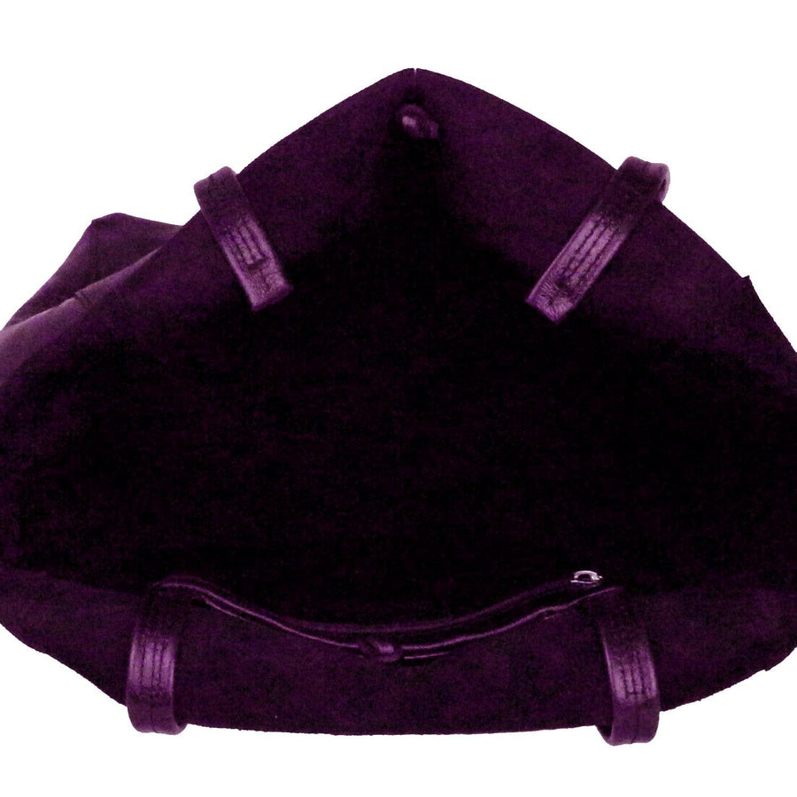 Pink & Purple Soft Sueded Leather Tote Shopper Sostter
