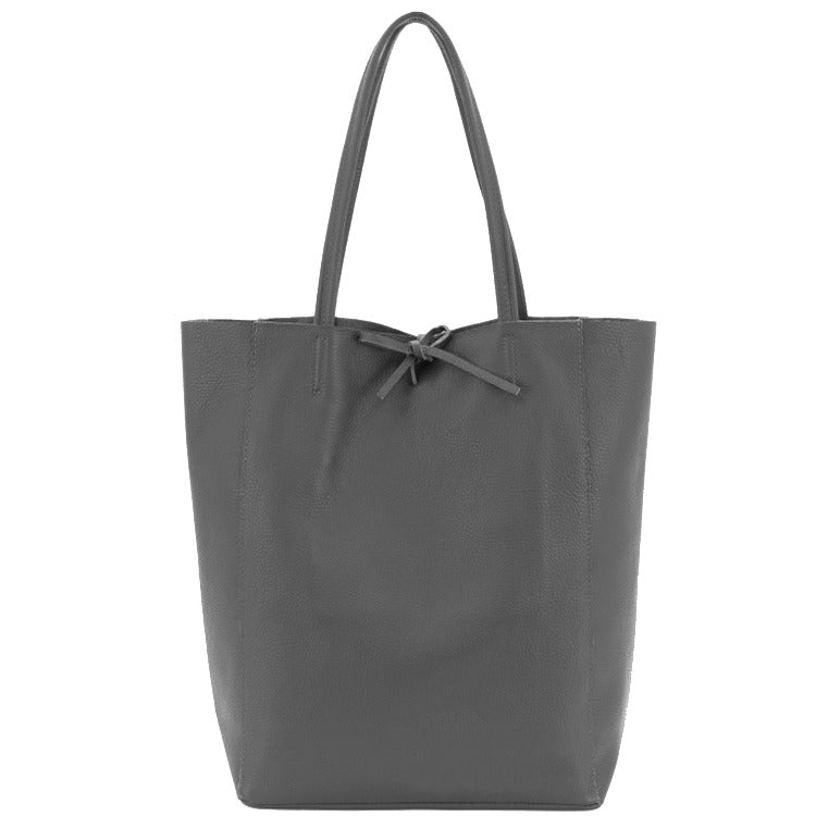 Slate Grey Pebbled Leather Tote Shopper Bag - Brix and Bailey® - Contemporary Bag, Watch and Accessory Brand