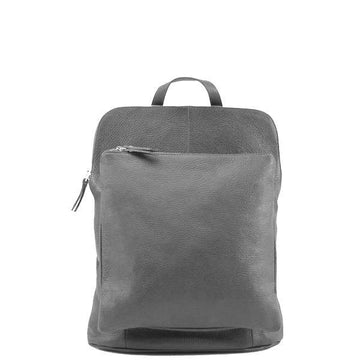 Slate Grey Soft Pebbled Leather Pocket Backpack - Brix and Bailey® - Contemporary Bag, Watch and Accessory Brand