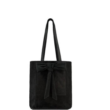Small Black Hair On Hide Bow Leather Tote - Brix and Bailey® - Contemporary Bag, Watch and Accessory Brand