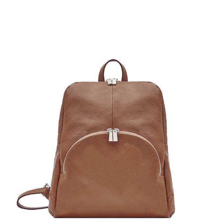 Camel Pebbled Leather Backpack Bag - Brix and Bailey® - Contemporary Bag, Watch and Accessory Brand