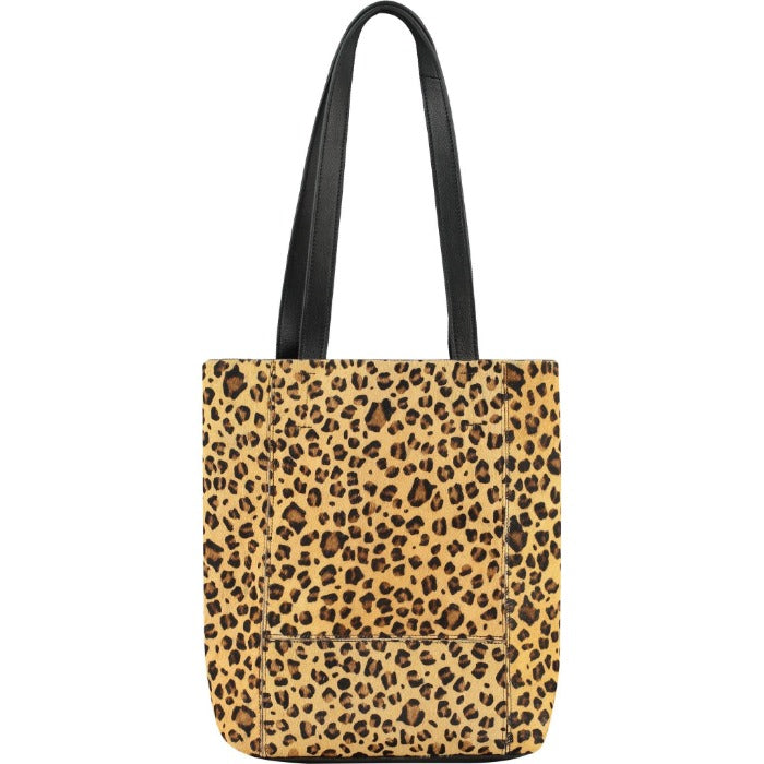 Hide Leather Tote Leopard Print  Calfhair Brix + Bailey