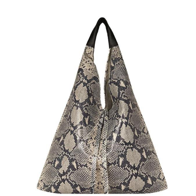 Snakeskin Pebbled Boho Leather Bag - Brix and Bailey® - Contemporary Bag, Watch and Accessory Brand