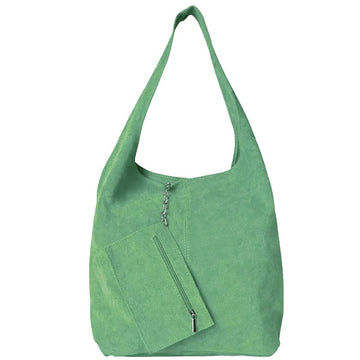 Apple Green Soft Suede Hobo Shoulder Bag - Brix and Bailey® - Contemporary Bag and Accessory Brand