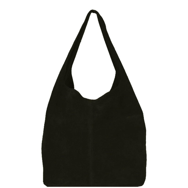 Black Soft Suede Hobo Shoulder Bag - Brix and Bailey® - Contemporary Bag, Watch and Accessory Brand