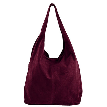 Maroon Soft Suede Hobo Shoulder Bag - Brix and Bailey® - Contemporary Bag, Watch and Accessory Brand
