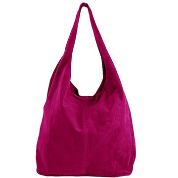 Raspberry Soft Suede Hobo Shoulder Bag - Brix and Bailey® - Contemporary Bag, Watch and Accessory Brand