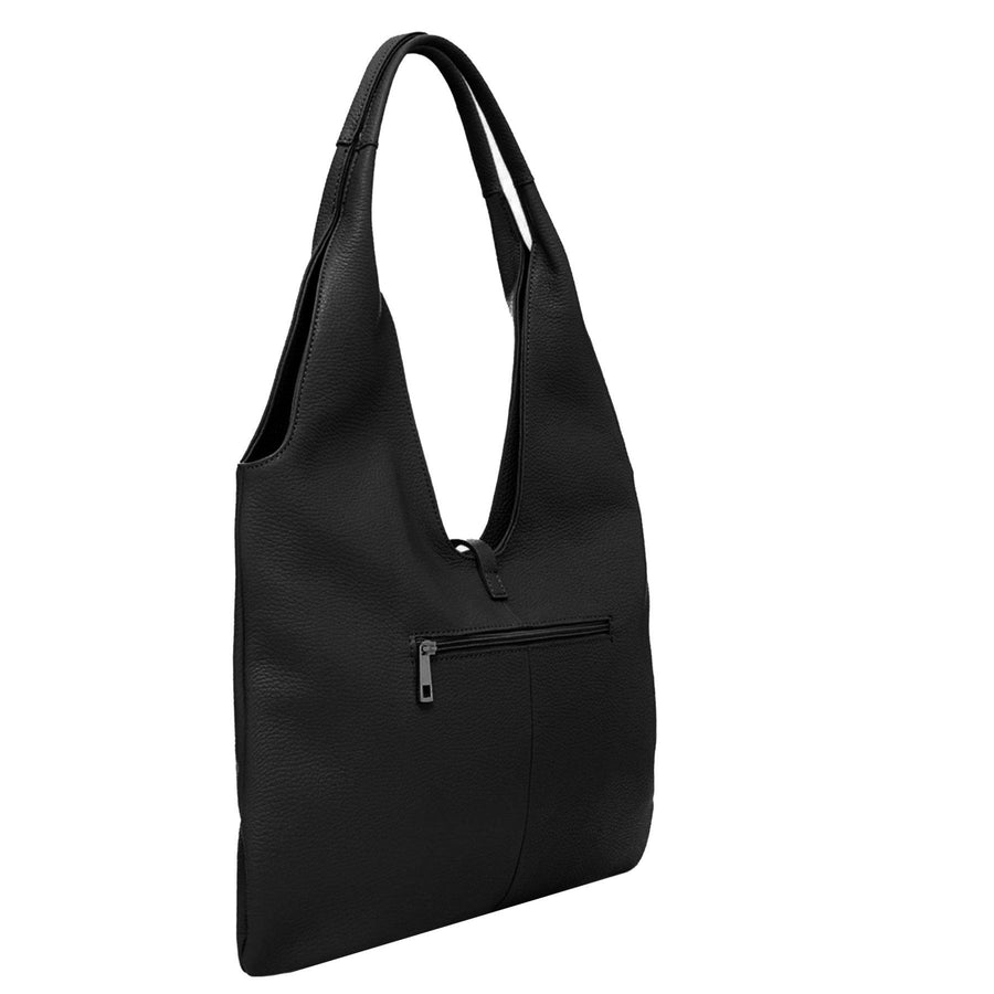 Black Tassel Leather Hobo Bag - Brix and Bailey® - Contemporary Bag and Accessory Brand