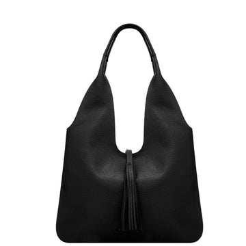 Black Tassel Leather Hobo Bag - Brix and Bailey® - Contemporary Bag, Watch and Accessory Brand