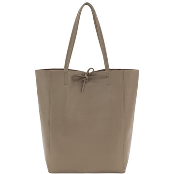 Taupe Pebbled Leather Tote Shopper Bag