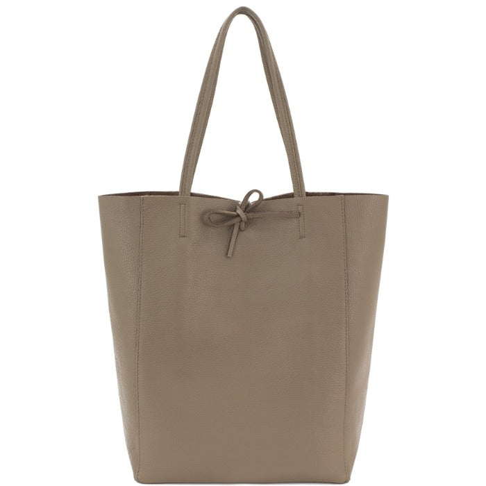 Taupe Pebbled Leather Tote Shopper Bag - Brix and Bailey® - Contemporary Bag, Watch and Accessory Brand