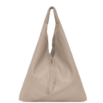 Taupe Pebbled Boho Leather Bag - Brix and Bailey® - Contemporary Bag, Watch and Accessory Brand