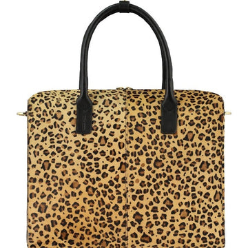 Leopard Print Hair On Hide Leather Grab Bag - Brix and Bailey® - Contemporary Bag, Watch and Accessory Brand