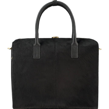 Black Hair On Hide Leather Grab Bag - Brix and Bailey® - Contemporary Bag, Watch and Accessory Brand