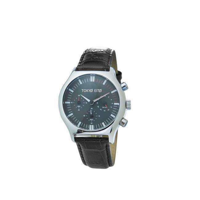 Black Triple Chronograph Retro Watch - Brix and Bailey® - Contemporary Bag and Accessory Brand