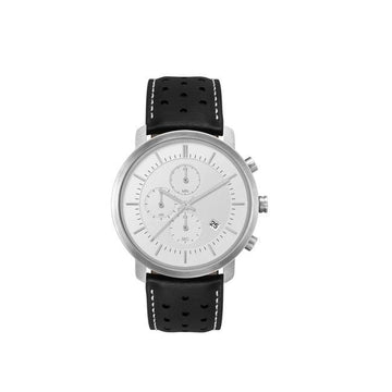 Minimal Silver and Black Triple Chronograph Mens Watch - Brix and Bailey® - Contemporary Bag, Watch and Accessory Brand