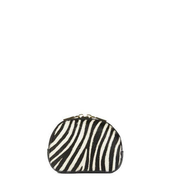 Black Zebra Print Hair On Hide Leather Coin Purse - Brix and Bailey® - Contemporary Bag, Watch and Accessory Brand